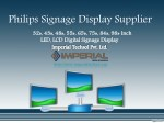 Philips Signage Display Supplier
