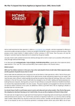 We Plan To Expand Into Home Appliances Segment Soon: CMO, Home Credit