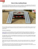 How to Buy Loading Ramps