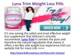 Luna Trim Weight Loss Pills