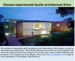Importance of modern residential architecture