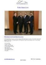 Personal Injury Attorney - Fisher Injury Law