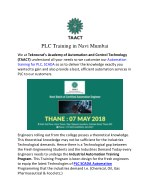 PLC Training in Navi Mumbai