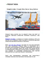 Cargo Shipping and Freight Forwarding Services