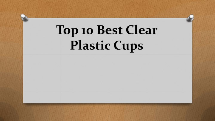 top 10 best clear plastic cups n.