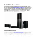 Best Home Theater Speaker Reviews