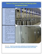 Parts to Clean in a Commercial Refrigeration Installation Sydney