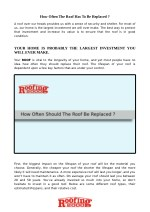 When is the best time to replace the roof of your house? | Roofing2000