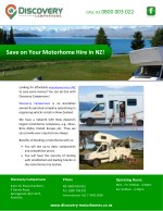 Save on Your Motorhome Hire in NZ!