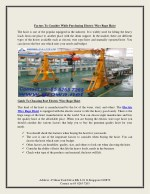 Factors To Consider While Purchasing Electric Wire Rope Hoist