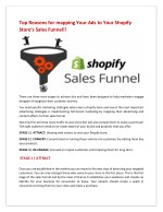 Top Reasons for mapping Your Ads to Your Shopify Store's Sales Funnel!!