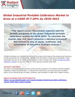 Global Industrial Portable Calibrators Market to Grow at a CAGR Of 7.20% by 2018-2022