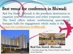 Best venue for conference in Bhiwadi