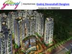 Godrej Devanahalli Pre Launch Property | Silicon Valley of India