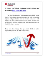 Things You Should Think Of After Engineering to Ensure High Growth Career | Sage Automation