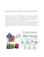 Essential Elements of an Effective Ecommerce Web Design