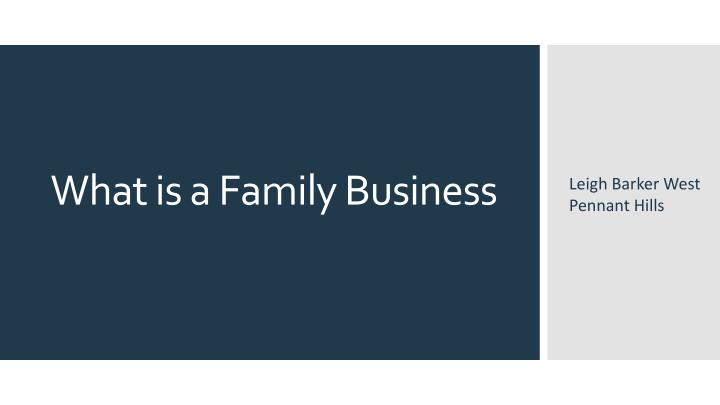 what is a family business n.