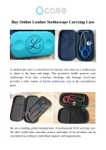 Buy Online Leather Stethoscope Carrying Case