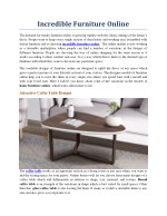 Incredible Furniture Online