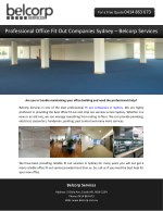 Professional Office Fit Out Companies Sydney – Belcorp Services