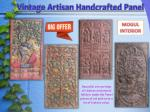 Vintage Artisan Handcrafted Panel