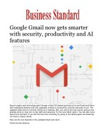 Google Gmail now gets smarter with security, productivity and AI features