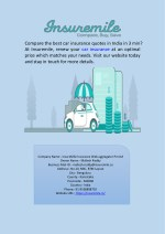 Renew Car Insurance Online in India at Insuremile.in