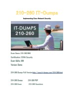 New IT-Dumps 210-260 Free Dumps Download