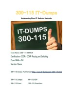 New IT-Dumps 300-115 Free Dumps Download