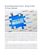 Email Marketing Trends - Bring Traffic To Your Website