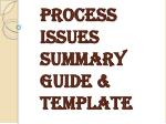 Process Issues Summary Guide & Template