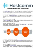 Automate Outbound Calls For Better Results