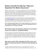 What Is The IDV For My Car? Why Is It Important For Motor Insurance?