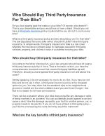 Who Should Buy Third Party Insurance For Their Bike?