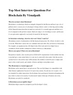Blockchain interview questions by Visualpath | Blockchain Training in Hyderabad