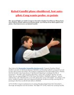 Rahul Gandhi plane shuddered, lost auto-pilot; Cong wants probe: 10 points