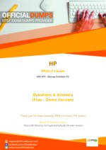 HPE0-J74 Exam Dumps - Try These Actual HP HPE0-J74 Exam Questions 2018 | PDF