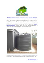 Why Poly rainwater tanks are the best water storage option in Adelaide?