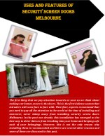Uses And Features Of Security Screen Doors Melbourne