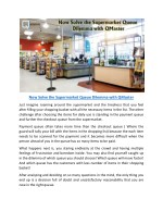 Now Solve the Supermarket Queue Dilemma with Qmaster