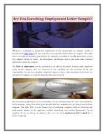 Are You Searching Employment Letter Sample
