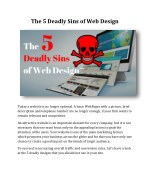 The 5 Deadly Sins of Web Design