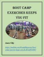 Boot Camp Execrises Keeps you Fit