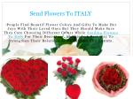 Send Flowers To ITALY Online