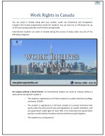 Work Rights in Canada