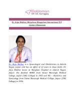 Dr. Anju Mathur | Morpheus Mangalam International IVF Center | Elawoman
