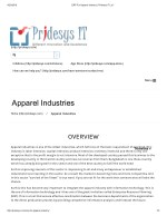 ERP For Apparel Industry | Pridesys IT Ltd