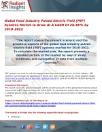 Global Food Industry Pulsed Electric Field (PEF) Systems Market to Grow At A CAGR Of 26.55% by 2018-2022
