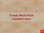 Hand Block Printing in saree and kurtis in india