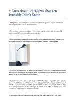 7 Facts about LED Lights That You Probably Didn't Know
